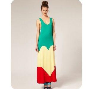 Louise Gray for ASOS Stripe Heart Maxi Dress 6